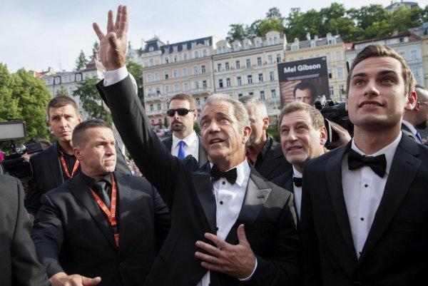 Mel Gibson na červeném koberci