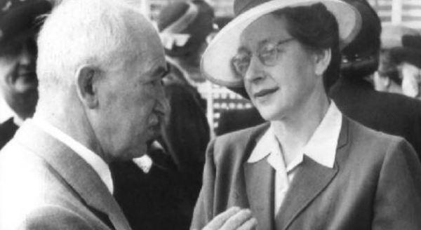 Prezident Edvard Beneš s Miladou Horákovou