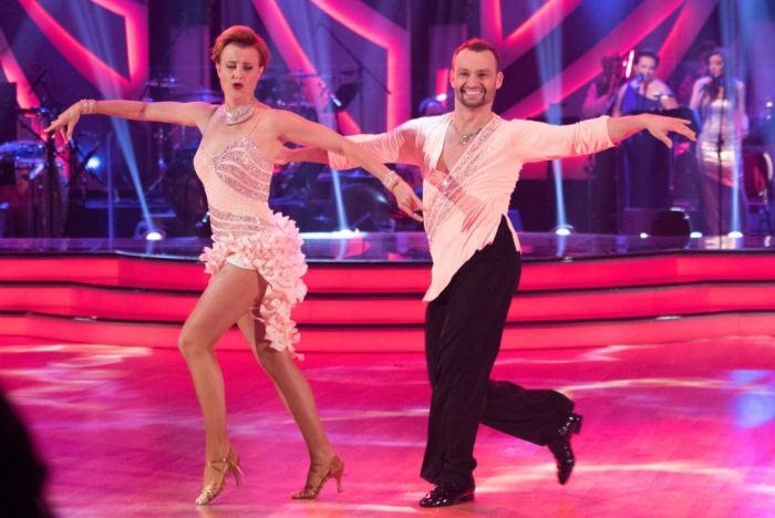 Jitka Schneiderová s tanečním partnerem (foto: ČT)