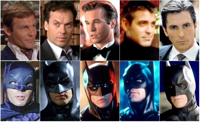 Všichni filmoví Batmani - Adam West, Michael Keaton, Val Kilmer, George Clooney a Christian Bale