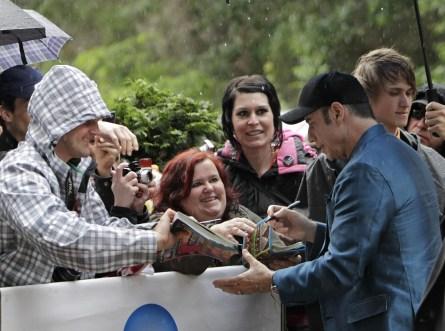 Travolta se zdraví s fanoušky
