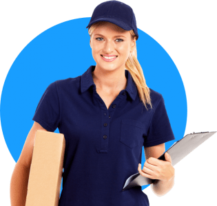 delivery woman driver photo