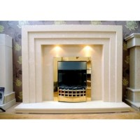 Tripple Step Marble Fireplace