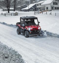 kawasaki mule in the snow [ 3000 x 2002 Pixel ]