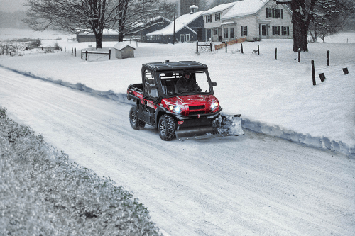 small resolution of kawasaki mule in the snow