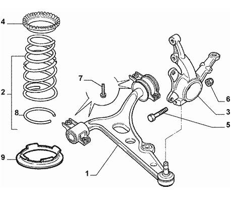 Alfa Romeo GTV/Spider (916) Front Suspension Lower