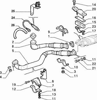 Alfa Romeo GTV/Spider 3.0 V6 Down Pipe Exhaust Bracket