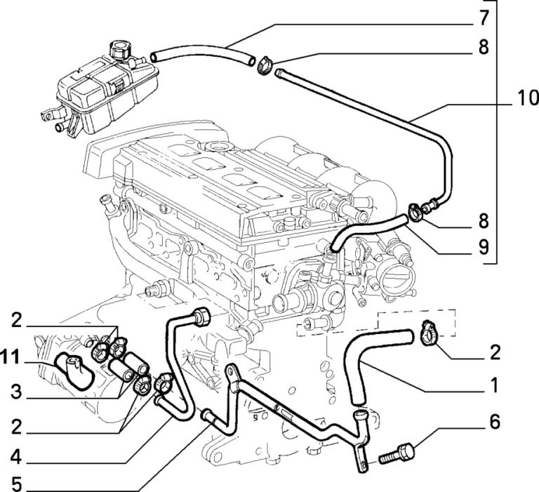 Alfa Romeo GTV / Spider Twinspark Thermostat Pipe and