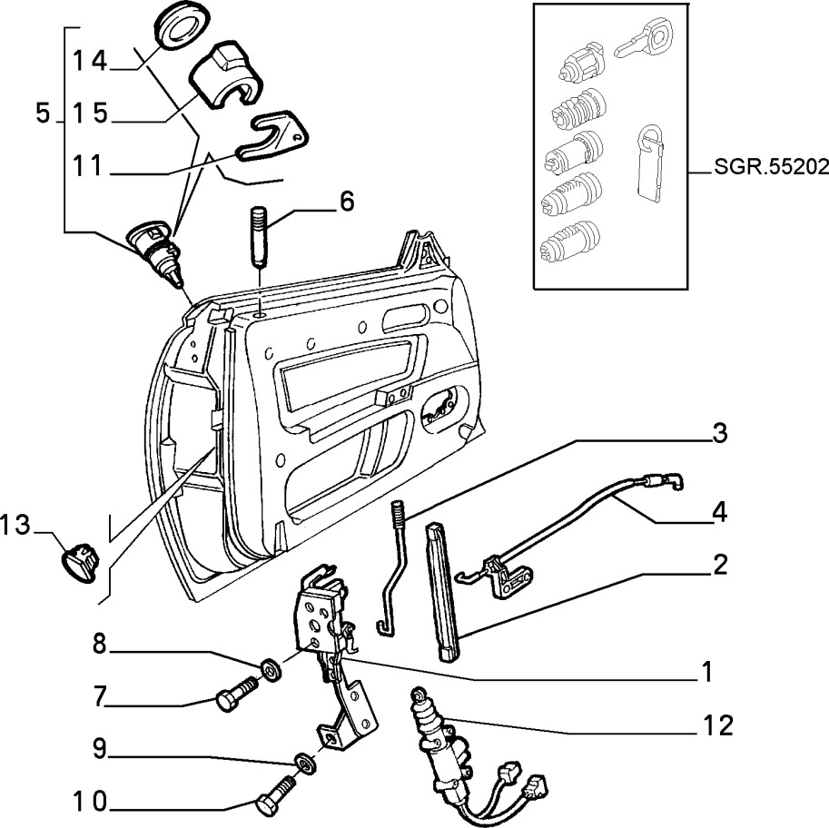 Alfa Romeo GTV/Spider (916) Door Lock Rod