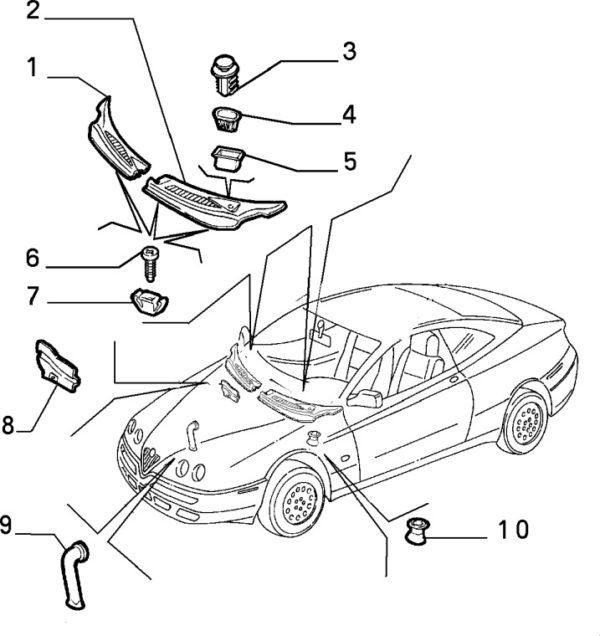 Alfa Romeo GTV/Spider Air Intake Protection Panel