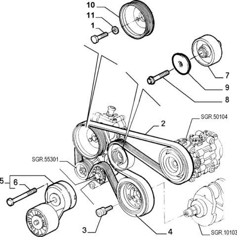 Alfa Romeo GTV/Spider JTS Auxiliary Belt