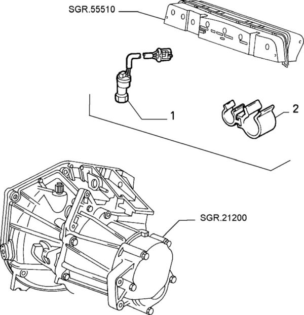 Alfa Romeo GTV/Spider V6 2.0 TB Gearbox Speedo Sensor