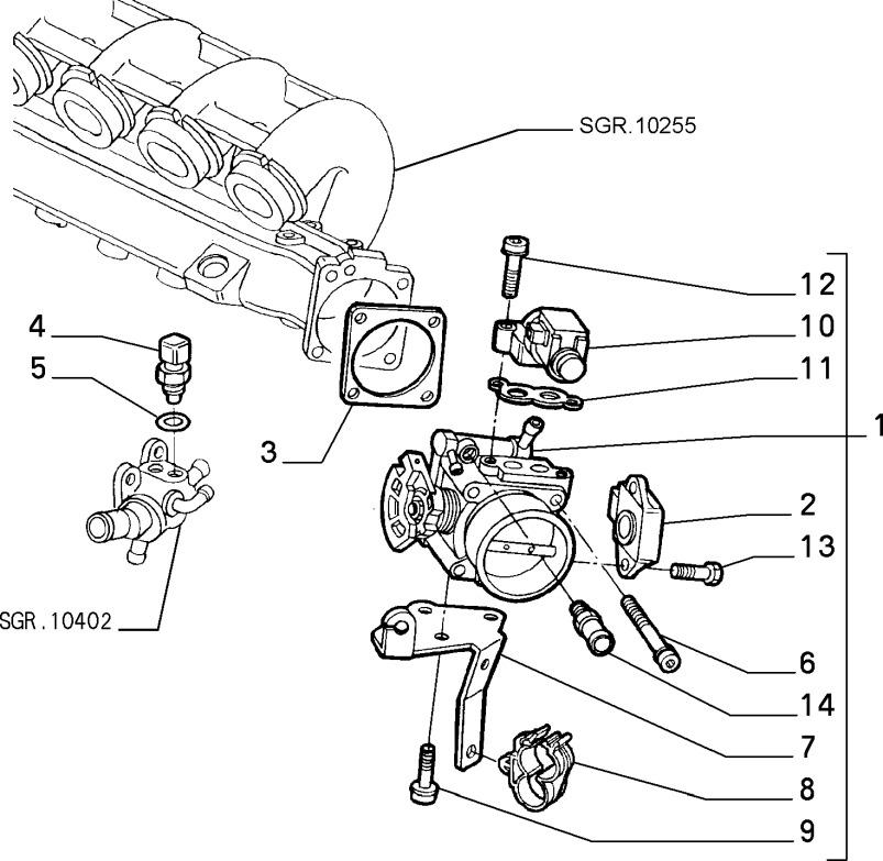 Alfa Romeo GTV/Spider Twinspark Idle Control Valve Gasket