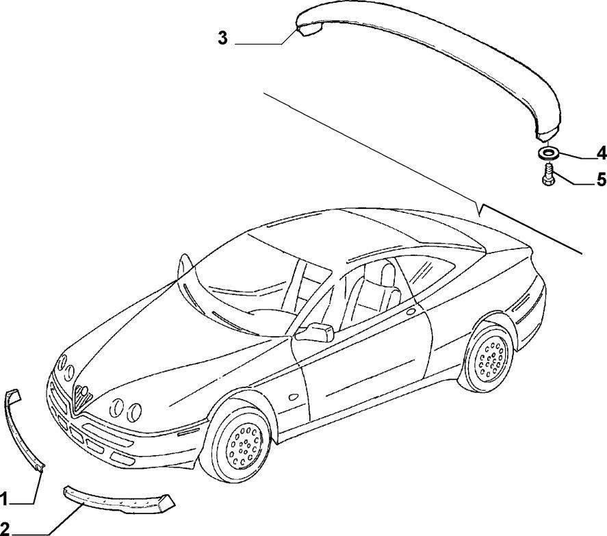 Alfa Romeo GTV/Spider (916) Front Aero Spoiler