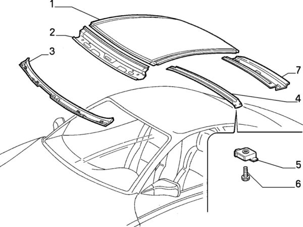 Alfa Romeo GTV/Spider Lower Windscreen Cross Member