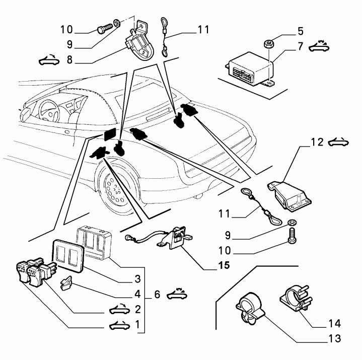 Alfa Romeo Spider (916) Roof/Hood Switch