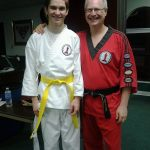 Colin getting his yellow belt