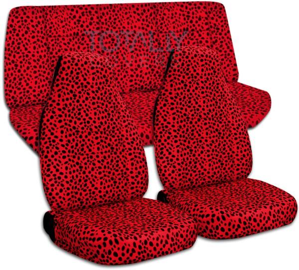 Animal Print Car Seat Covers Full Set Semi-custom Zebra