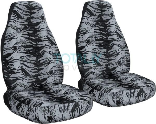 Animal Print Car Seat Covers Front Semi-custom Zebra