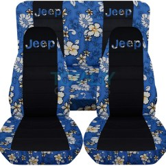 Hawaiian Chair Covers Childrens Rocking And Footstool Jeep Wrangler Yj Tj Jk 1987 2017 Black Seat