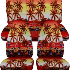 Hawaiian Chair Covers Office Accessories In Singapore Jeep Wrangler Yj Tj Jk 1987 2018 Print Seat