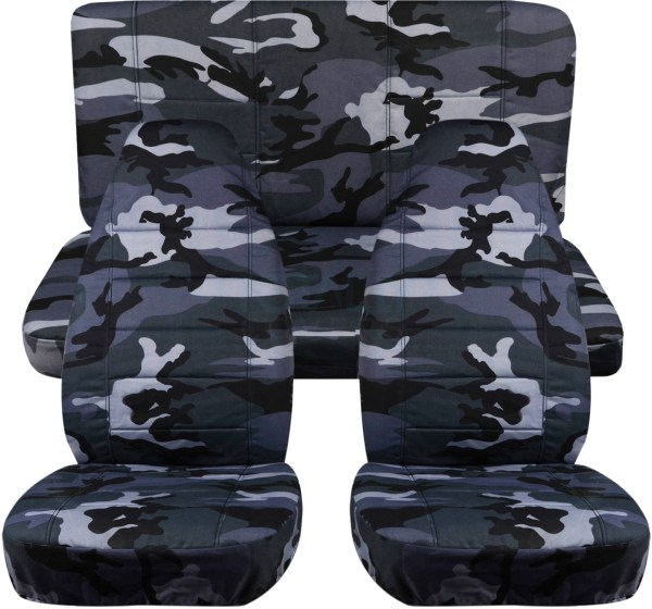 Camouflage Car Seat Covers Full Set Semi-custom Tree