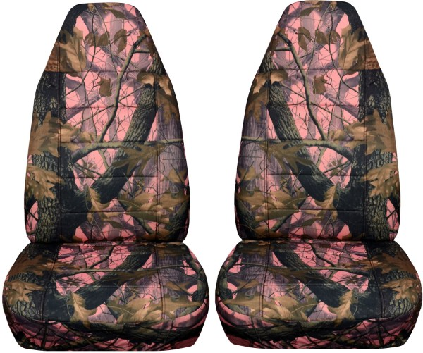 Camouflage Car Seat Covers Front Semi-custom Tree