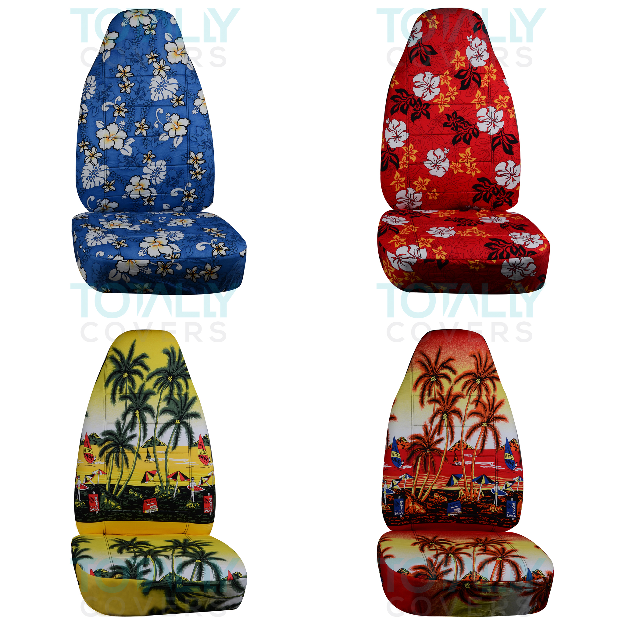hawaiian chair covers oak dining room table and chairs two tone car seat front semi custom black red