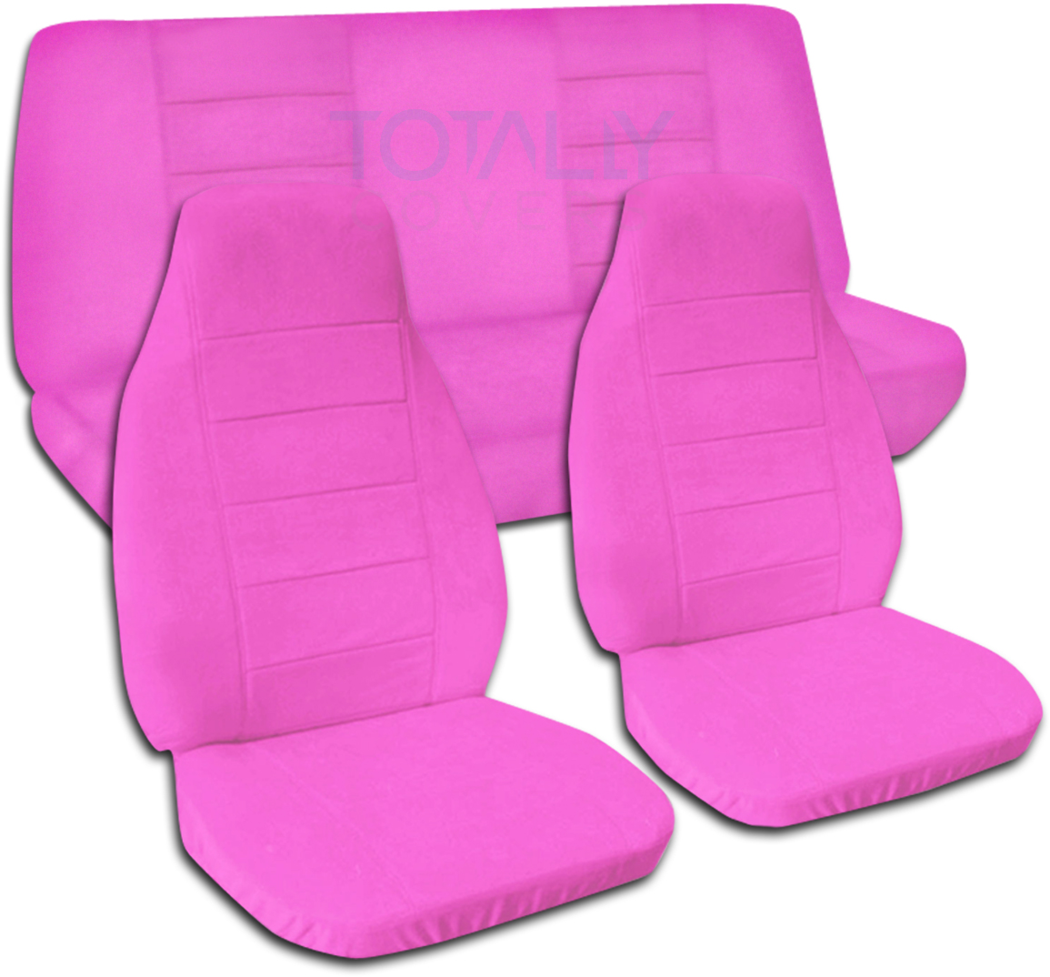 chair covers pink selig lounge solid color car seat full set semi custom black