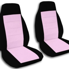 Chair Covers For Cars Dining Chairs Nailhead Trim Two Tone Car Seat Front Semi Custom Black And Red