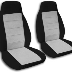 Chair Covers For Cars Swivel Kitchen Two Tone Car Seat Front Semi Custom Black And Red