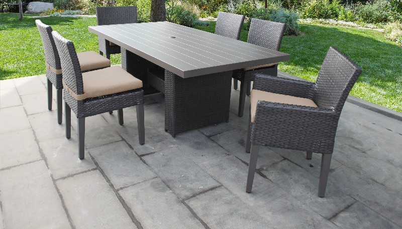 lexington 6 piece outdoor aluminum patio furniture set 06s in navy tk classics lexington 06s navy