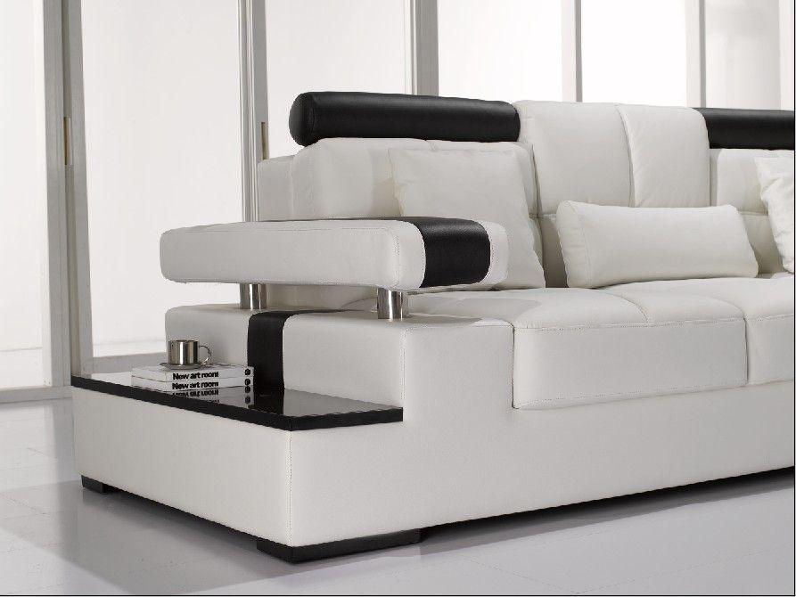 divani casa t117 modern leather sectional sofa in white vig furniture vgyi117
