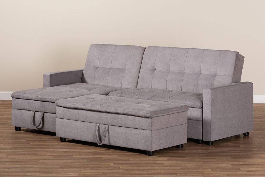 baxton studio noa modern contemporary light grey fabric upholstered left facing storage sectional sleeper sofa w ottoman r615 light grey lfc