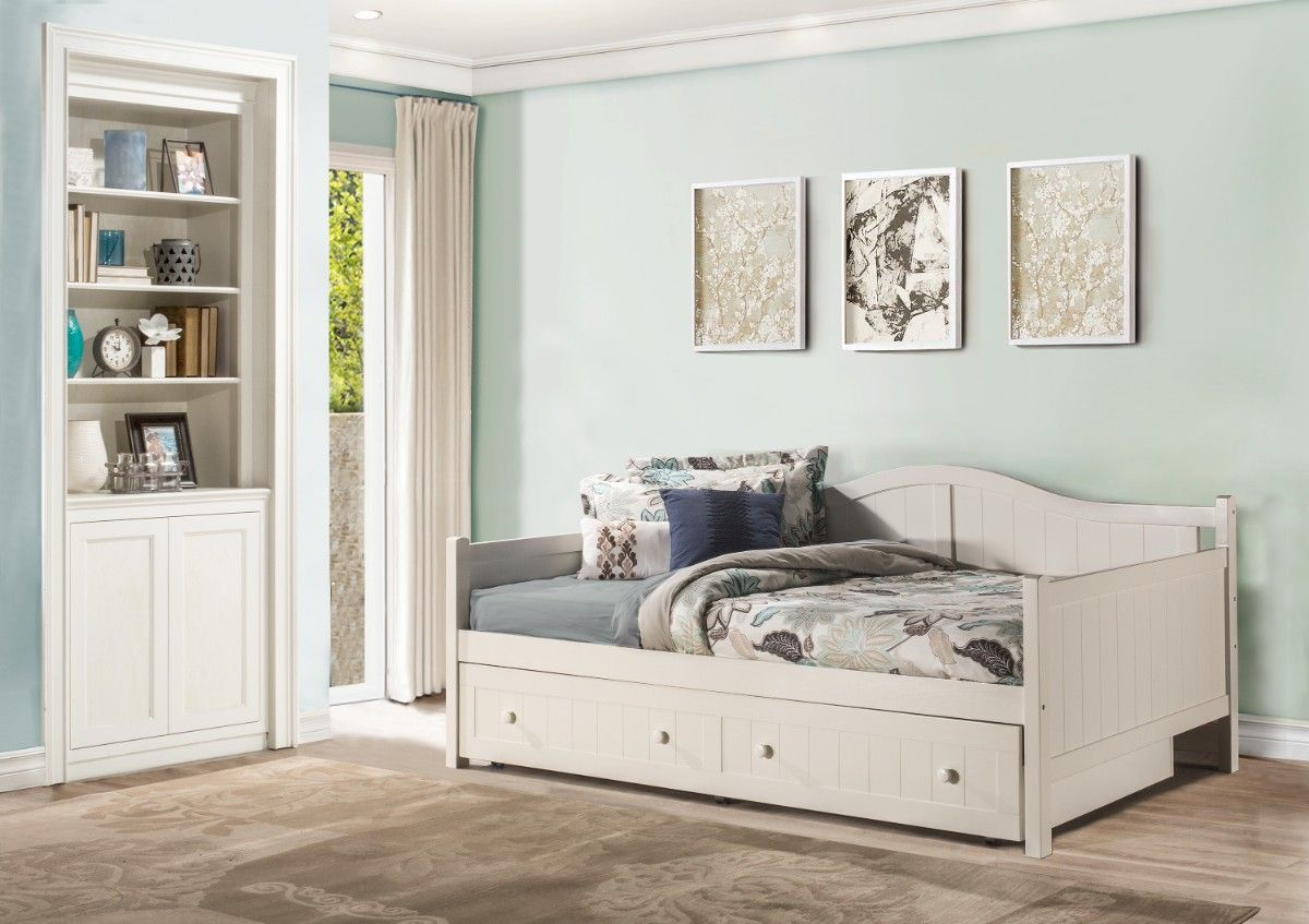 staci full size daybed in white w trundle hillsdale 1525fdbt