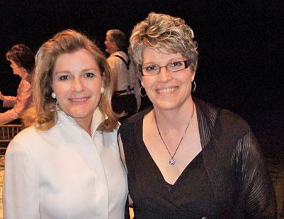 Kate Mulgrew and Rhonda Strobel