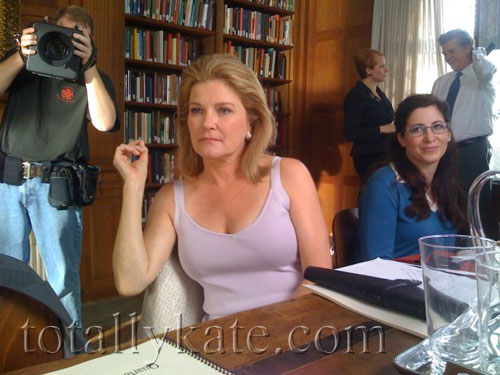 Kate Mulgrew on location for The Best & The Brightest