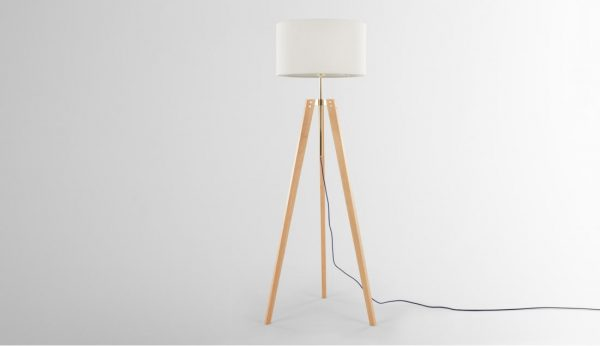 Irvin Tripod Floor Lamp Natural Wood And White Floor Lamps Sale Best Standard Tripod Floor Standing Lights