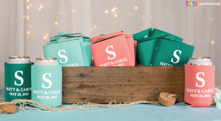 Coral and Teal Wedding Favors