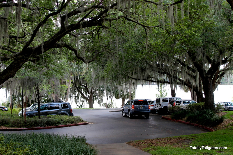 Parking lot at Rollins College
