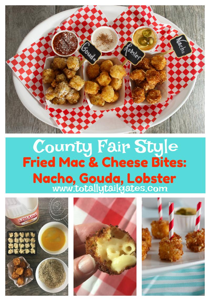 County Fair Style Fried Mac & Cheese Bites: Nacho, Gouda & Lobster