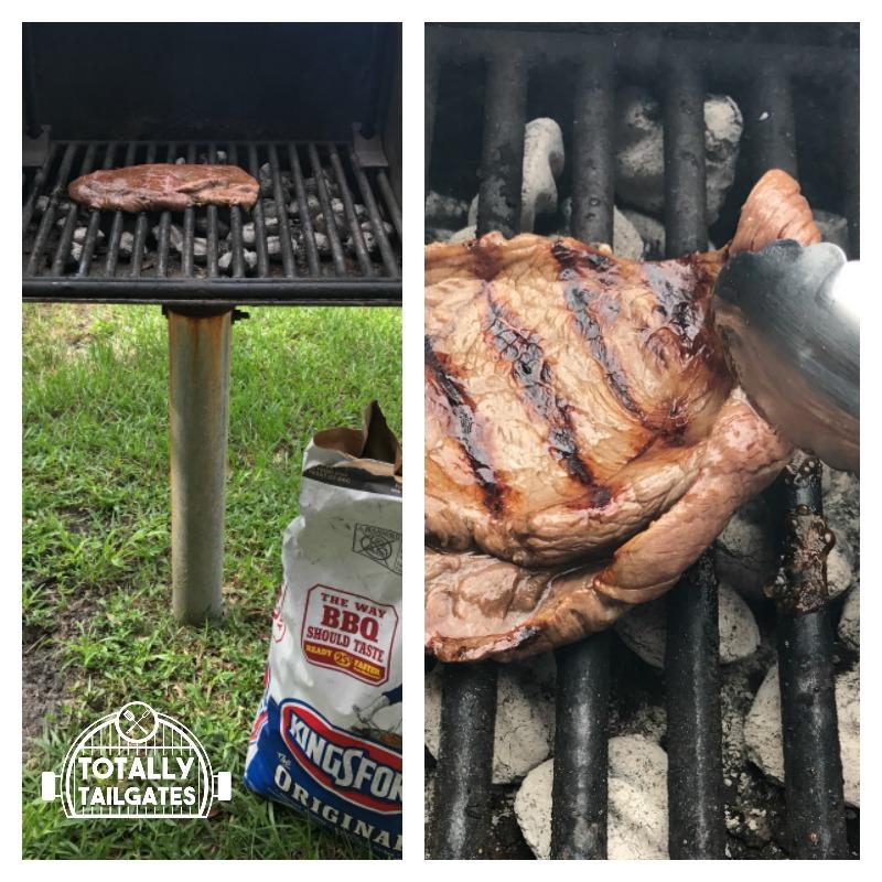 Grilling makes Skirt Steak Crostini Bite appetizers sooo good!