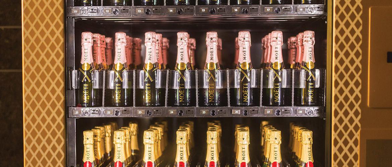 A Moet & Chandon vending machine at Caesar's in Las Vegas!