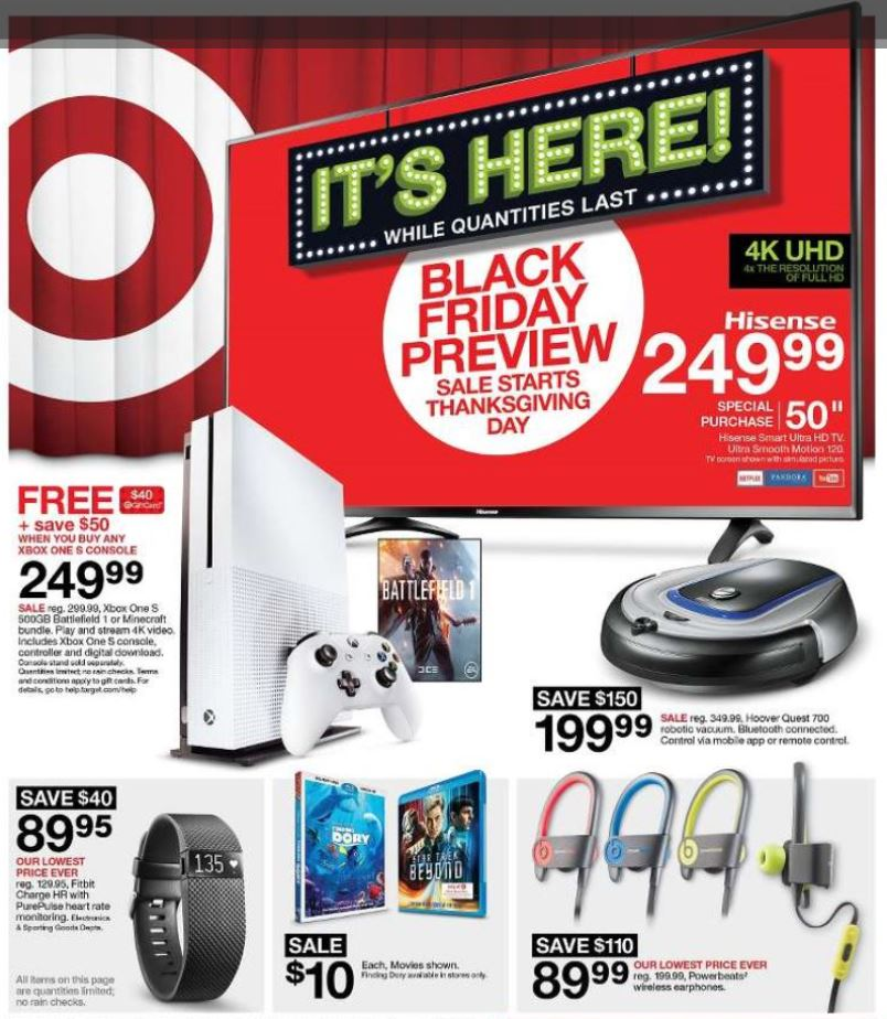 It's Here! Target Black Friday Ad Preview 11/24-11/26