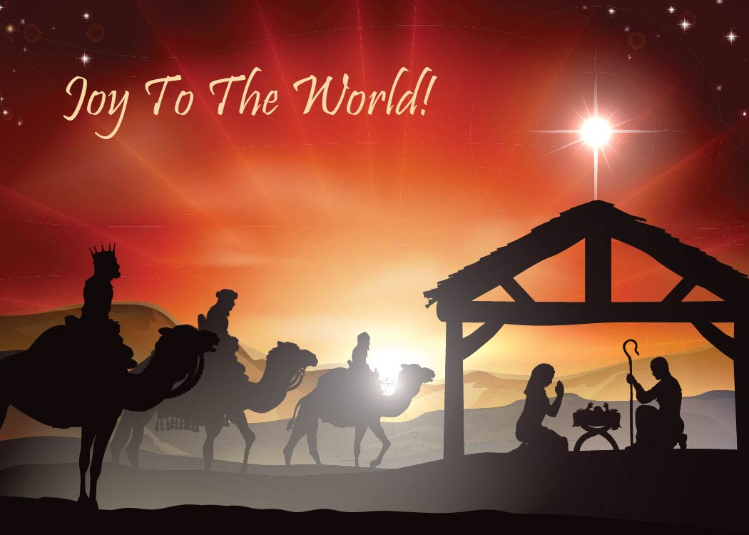 Religious Christmas Card Front - Total Media