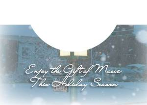 Holiday Lamp Post  Card Inside