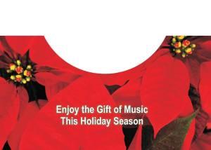 Holiday Poinsetta Card Inside