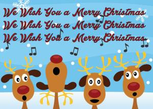 Singing Reindeer Card Front