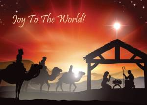 Religious Christmas Card Front