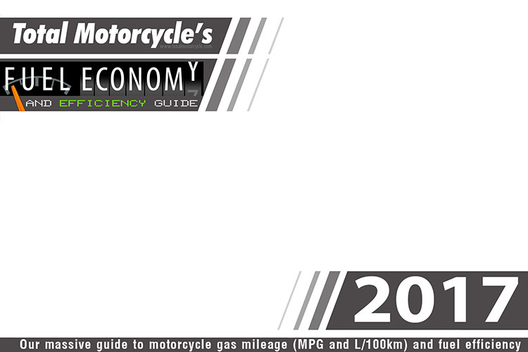 2017 Motorcycle Model Fuel Economy Guide in MPG and L/100km